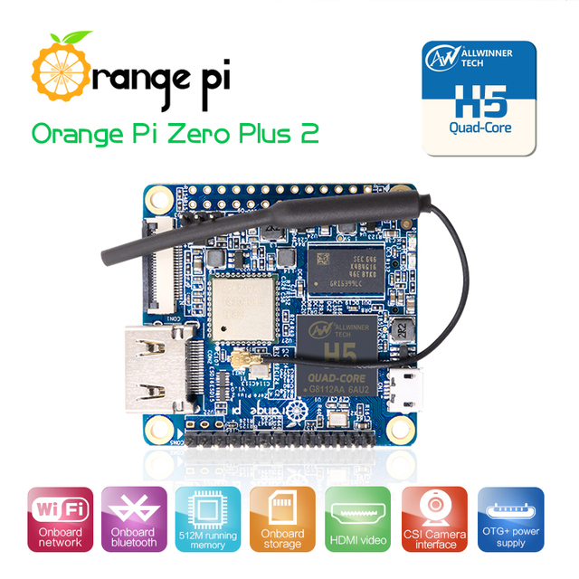 オレンジパイゼロ Plus2 H5 クアッドコア無線 Lan 、ブルートゥースミニ Pc ビヨンドラズベリーパイ 2 卸売が可能です