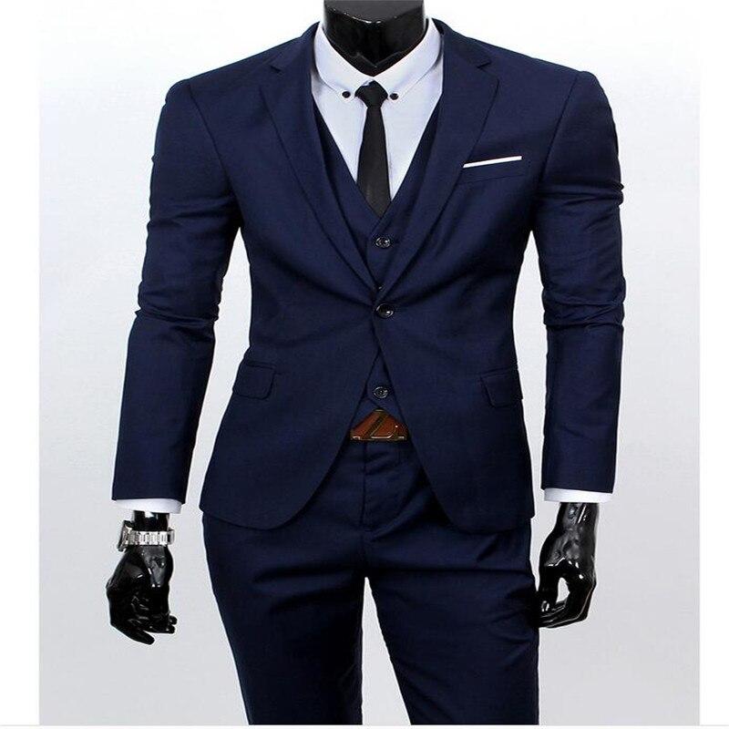32dde59bf7dee Same same Pantalon Hommes As Picture Costumes Formel Marié Décontractée  Robe Cravate Costume Gilet Mariage Bluemen D'affaires ...