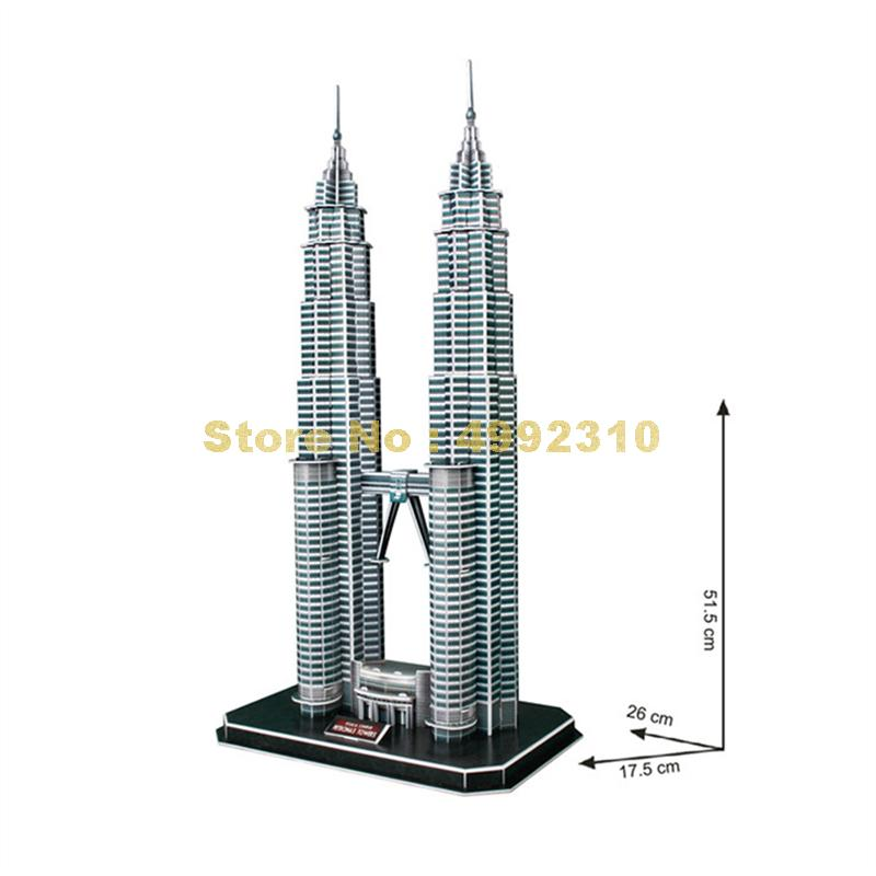Carboard Jigsaw Model 3D Puzzle Chrysler Building DIY Toy