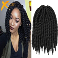"12""14"" 80g/pack Factory Price Havana Mambo Twist Crochet Braids Hair Synthetic Kanekalon Braiding Hair Extension For Black Women"