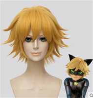 Black Cat Noir Cosplay Costume Miraculous Ladybug Wigs Adrien Black Cat Noir Cosplay Costume Wig Men
