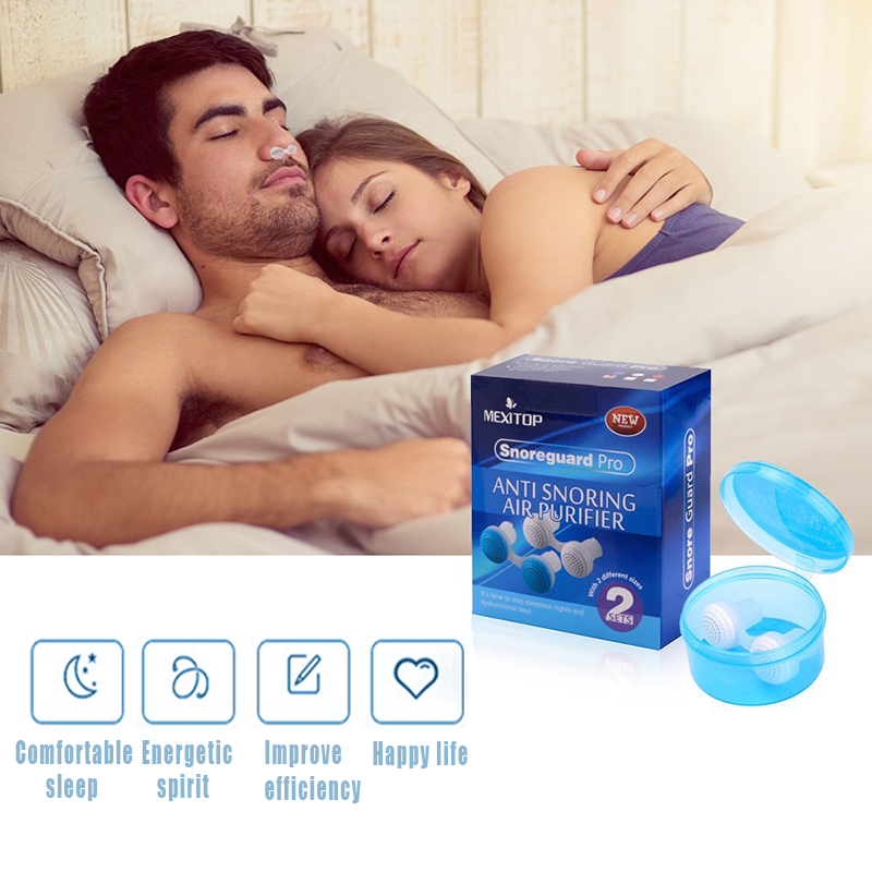 OPHAX Silicone anti snoring Relieve Noise Nose Breathing Apparatus stop snoring devices nose clip night sleeping aid Relaxation