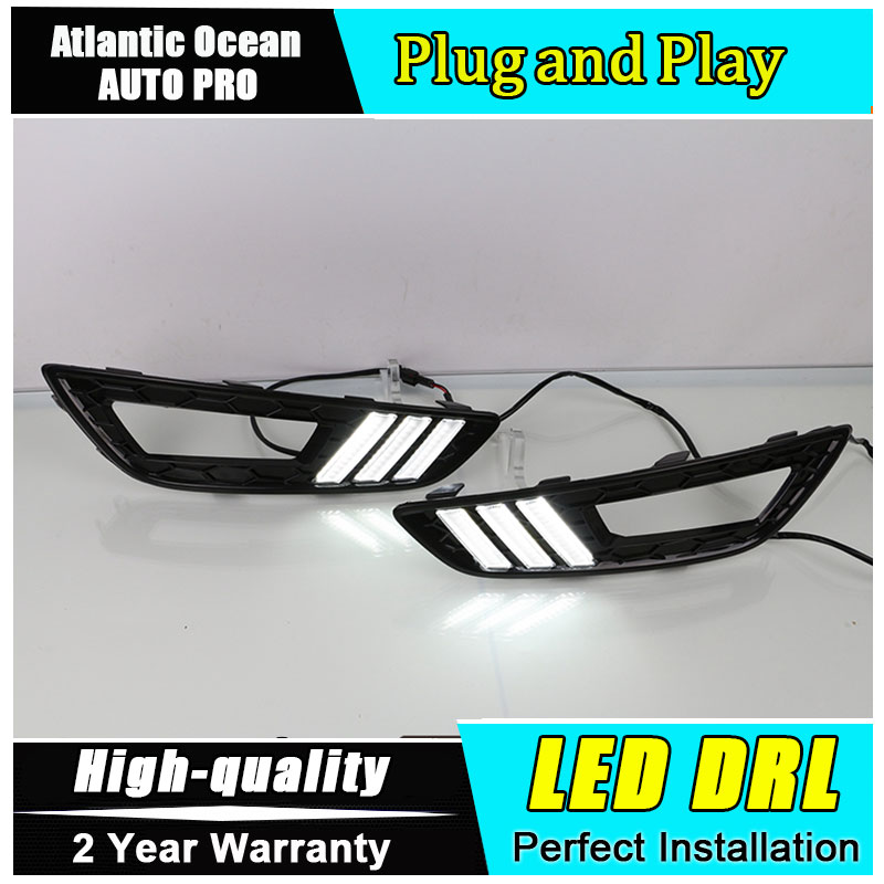 где купить JGRT car styling For Focus LED DRL For Ford Focus led fog lamps daytime running light High brightness guide LED DRL по лучшей цене