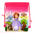 1Pic Children Drawstring Bags Sofia School Bags For Girls&Boys Print Character School Backpack Nylon Teenagers Mochila