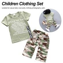 цена на Fashion Newborn Toddler Kids Baby Boy Clothing Set Short Sleeve Crown Print KING T-shirt Tops Harem Pant 2PCS Outfits