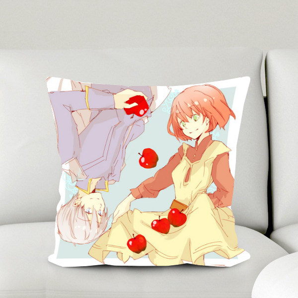 New Snow White With The Red Hair Anime Shirayuki & Zen 40*40CM Pillow Case Covers #40605
