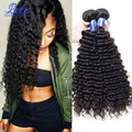 7a não transformados malásia onda profunda curly virgem cabelo 2 feixes queen hair products malaysian curly weave extensões de cabelo humano