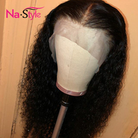 Transparent Lace Front Human Hair Wigs Curly Human Hair Wig Mongolian Kinky Curly Wig Pre Plucked Lace Wig Black Virgin Hair