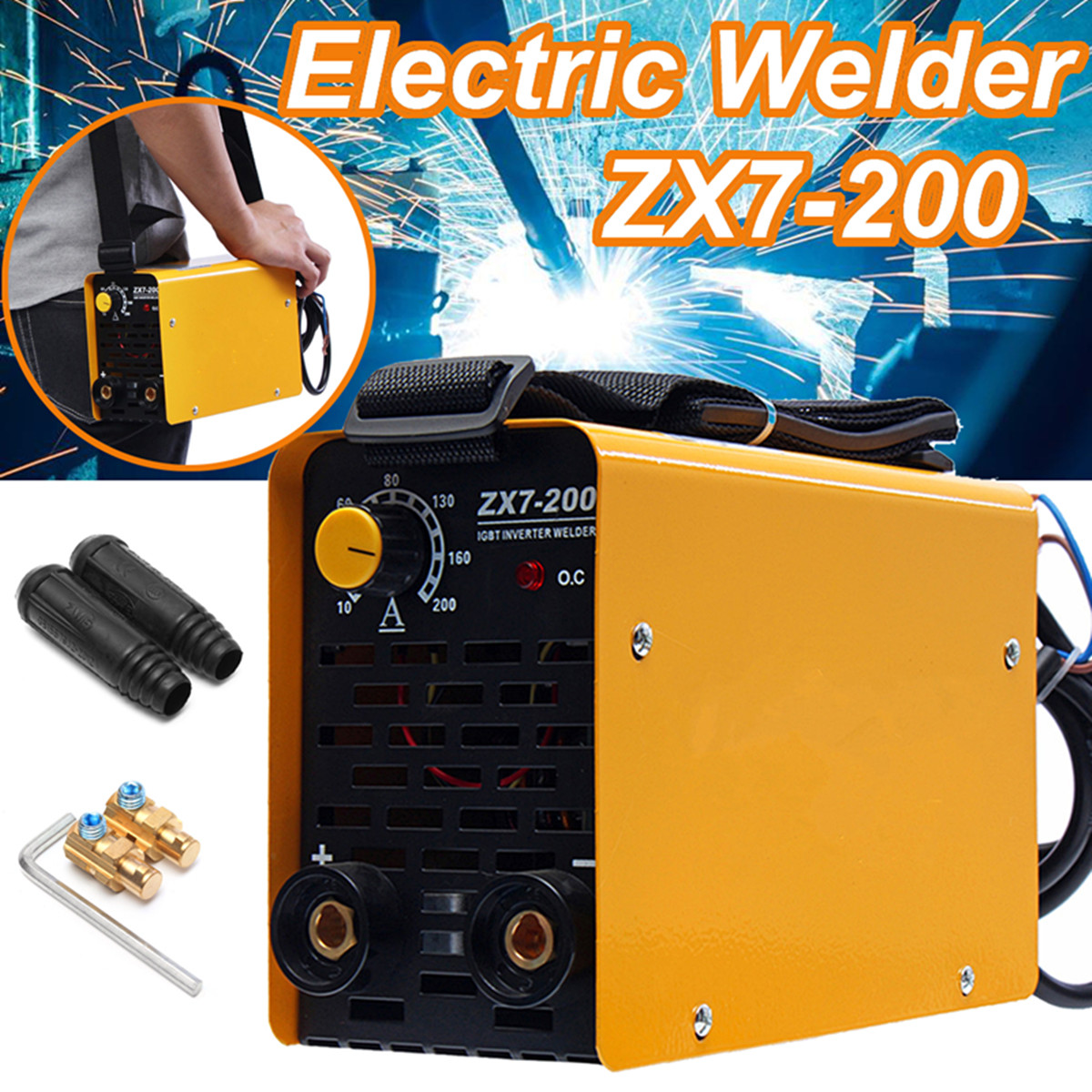 ZX7-200 220V Mini Electric Welding Machine Portable Solder 40W 10-200A IGBT Inverter Air Cooling Soldering Tool Welding Working igbt inverter welding machine co2 gas shielded welding machine n 200 220v 200a