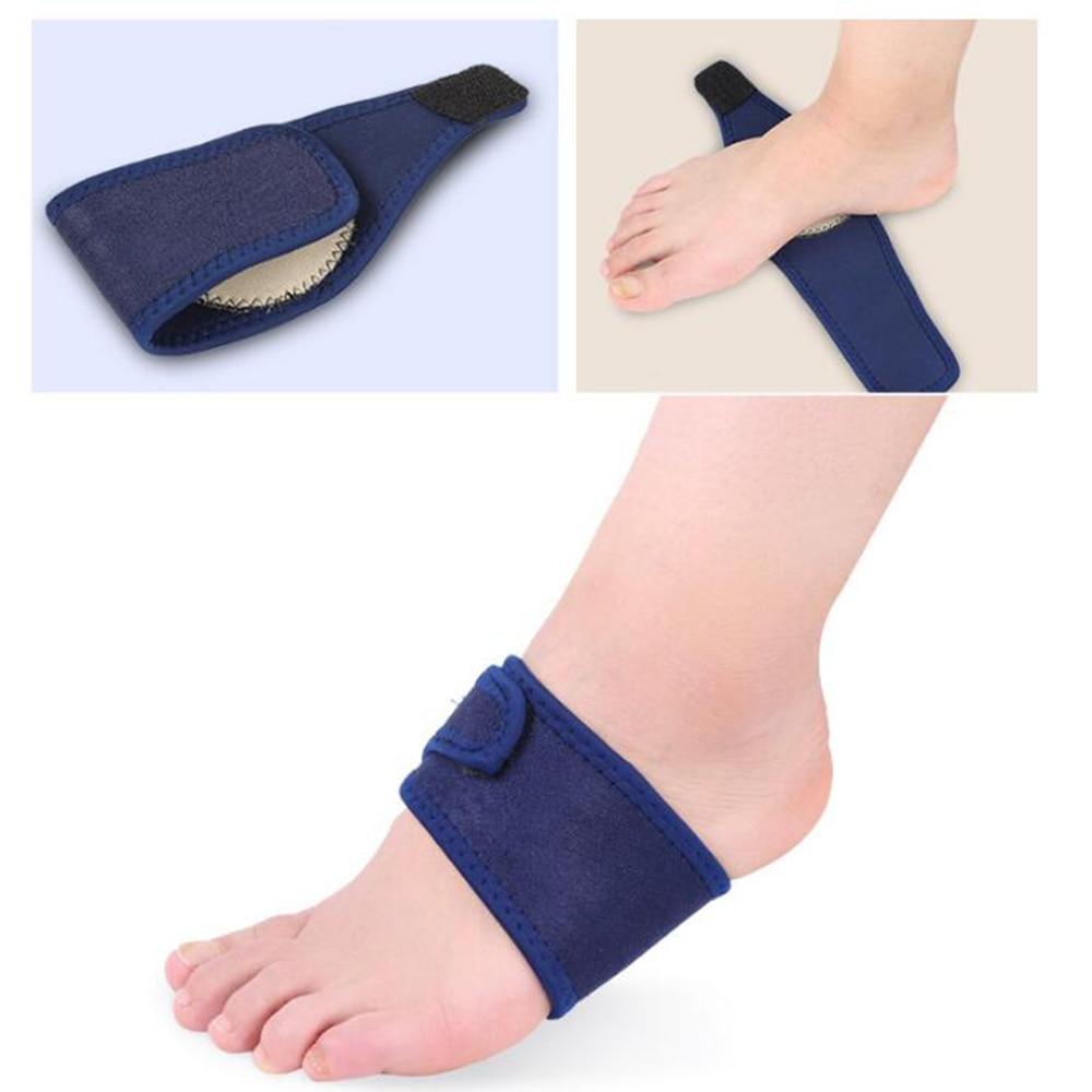 2 Pcs Bandage Arch Support Shoes Pad Flexible Fabric Massage Feet Orthopedic Flatfoot Insoles Set Plantar Toiletry Kits A311