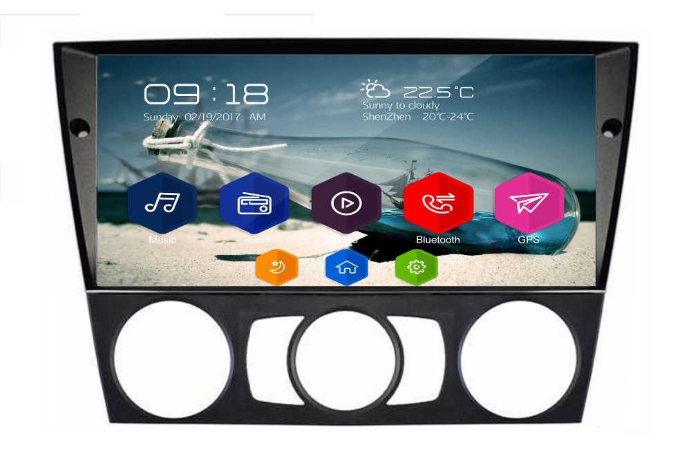 Otojeta Большой hd dvd плеер головное устройство магнитофон для BMW E90 E91 E92 руководство/C Радио Стерео android 7,1 gps navi мультимедиа
