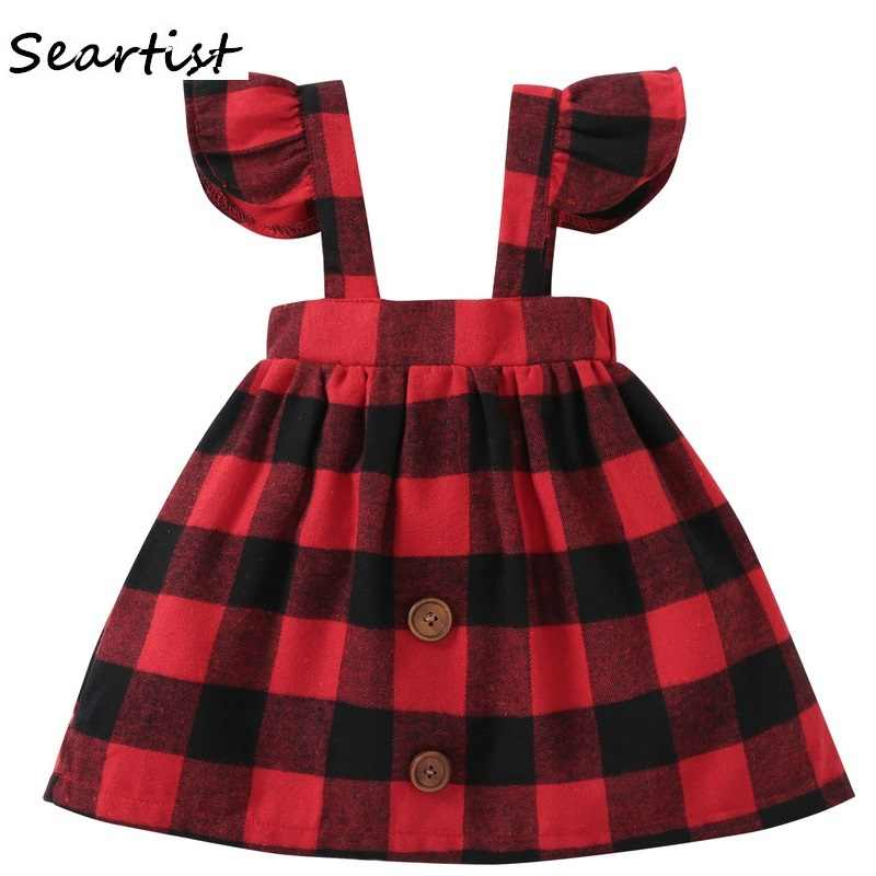 93370fb09 Detail Feedback Questions about Seartist Baby Girls Dress Autumn Belt  Ruffle Sleeved Red Plaid Christmas Dresses for Girl Kids Baby Girl Clothes  2019 New46G ...