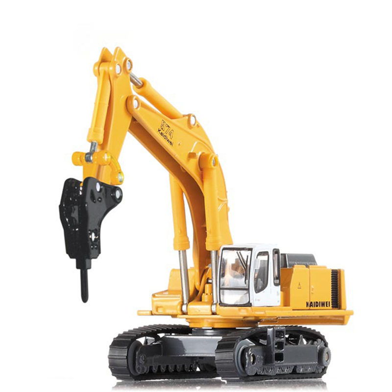 Hydraulic Excavator Hammer Hydraulic 1/87 Scale Crawler excavator 974 type Alloy model toys Excavator Diecast Metal Model Toy