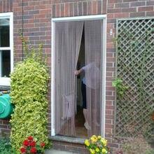 Двери окна алюминиевые цепи занавес металлический экран муха насекомых жалюзи борьба с вредителями, серебро, 22-001