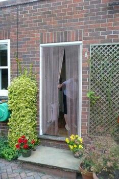 Алюминиевые завесы для дверей и окон, металлические завесы для защиты от насекомых-насекомых, серебристый, 22-001