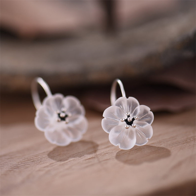 Handmade Flower Drop Earrings