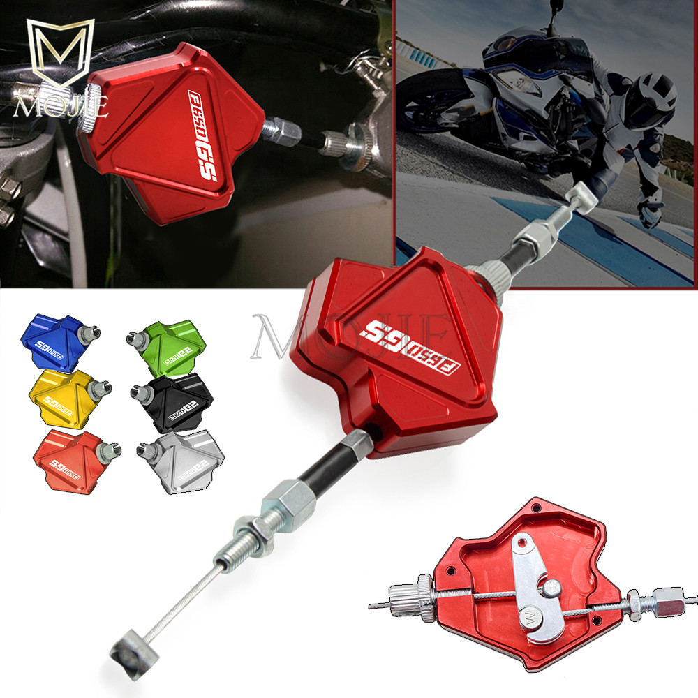 Motorcycle CNC Aluminum Stunt Clutch Lever Easy Pull Cable System For BMW F650GS F650 F 650 GS 2000-2005 2001 2002 2003 2004