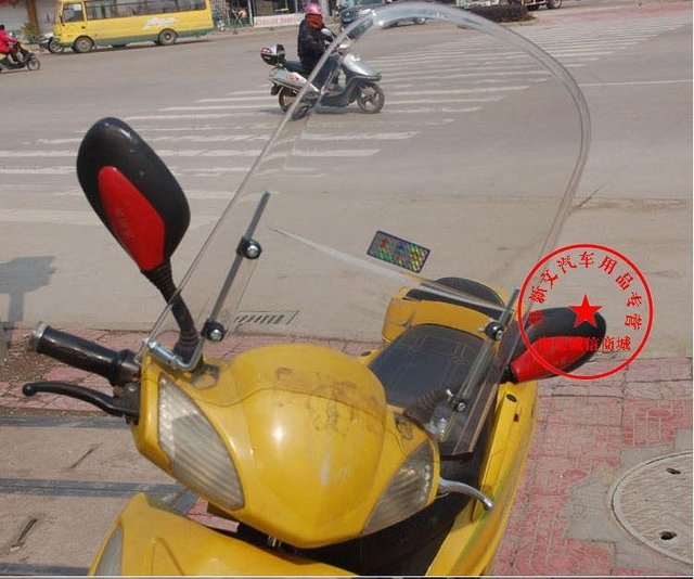 motorcycle windshield windscreen fit for most motorcycle scooter and e-bikes