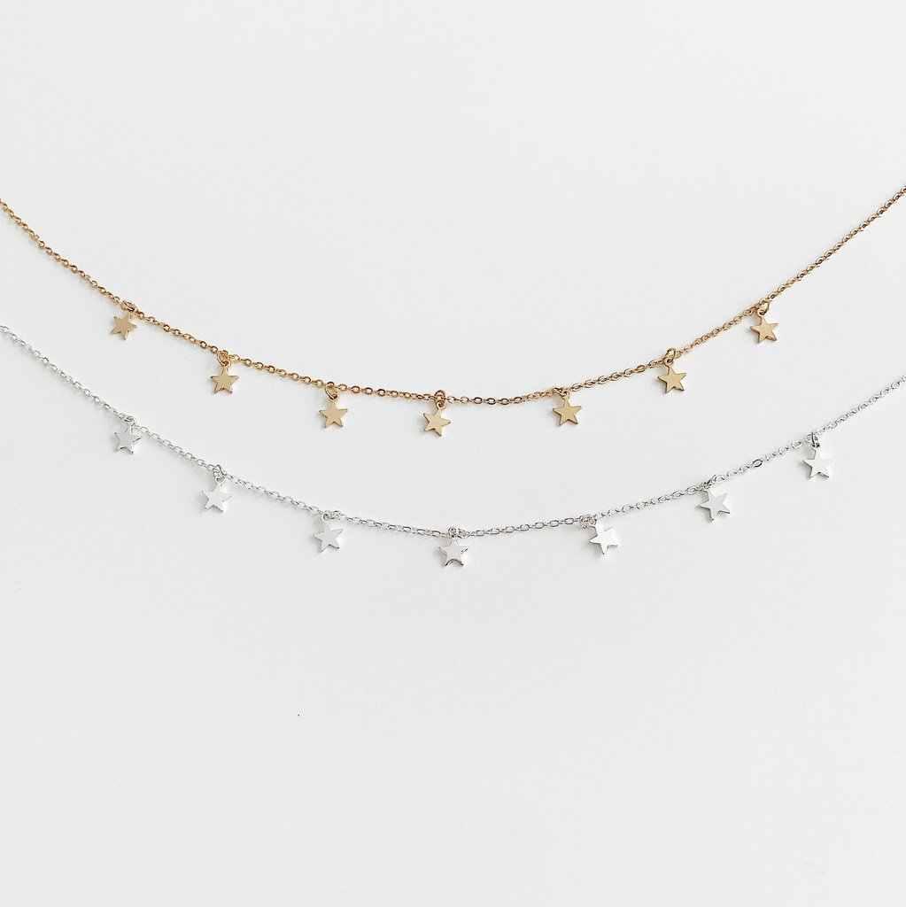 Mode Boho étoile collier femmes Chokers or argent lune collier collier mujer chaîne collier kettingen voor vrouwen bijoux 9