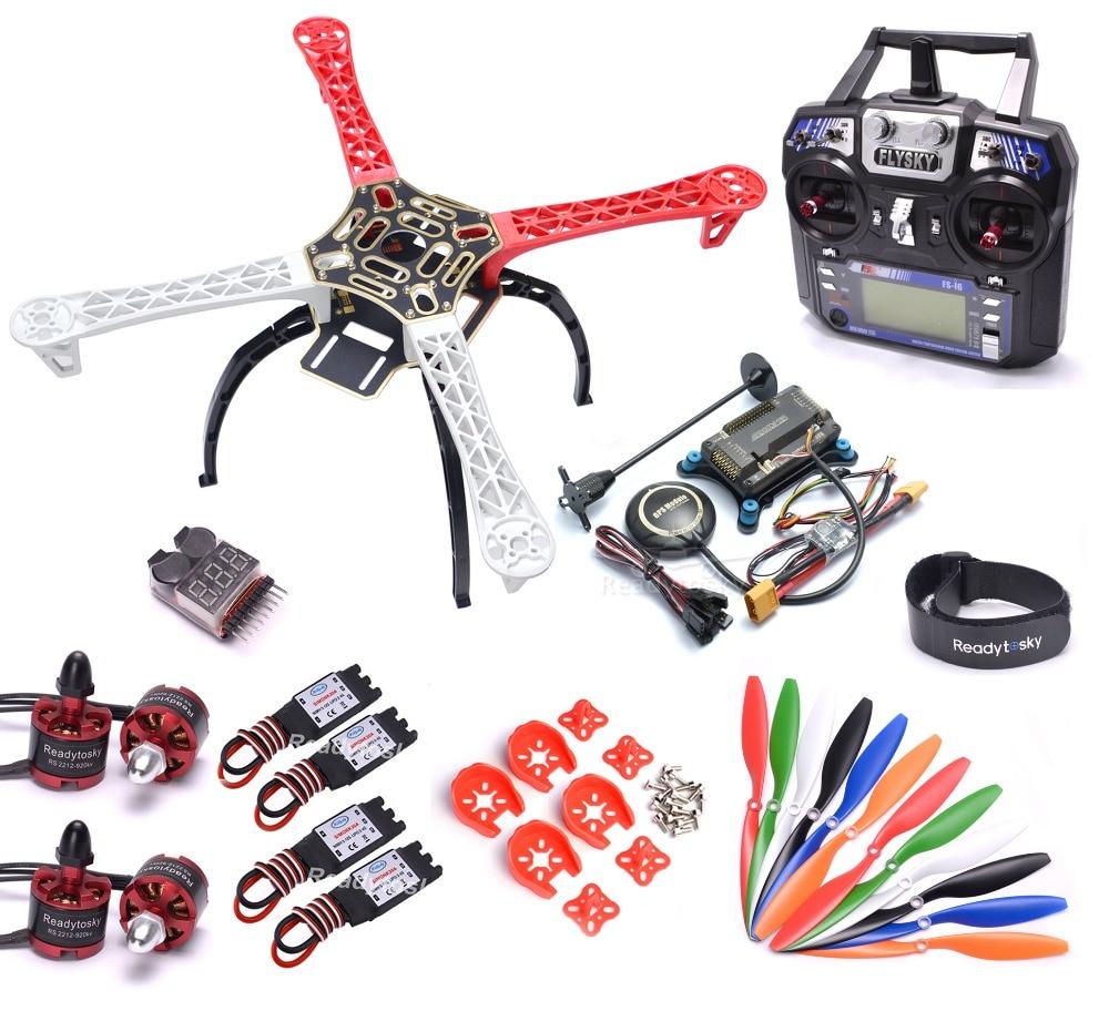 Flysky i6 F450 450mm Quadcopter marco Kit w/APM2.8 Placa de controlador M8N GPS 30A ala fija CES 2212 920kv motor 1045 de la hélice-in Partes y accesorios from Juguetes y pasatiempos    1
