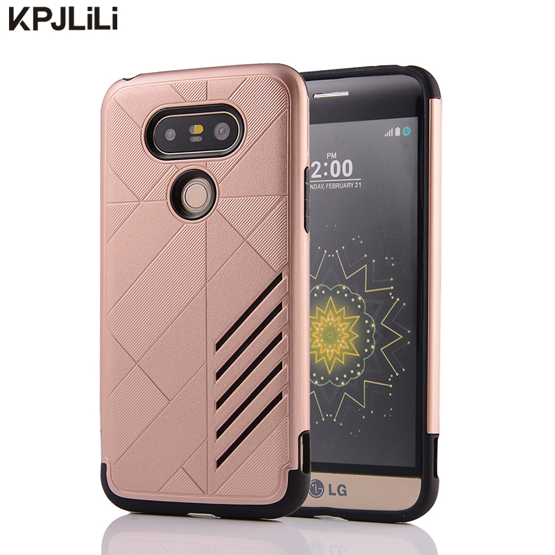 Slim Sword Armor Protective Phone Case for LG G3/G4/G5/K7/K10/V10 Dual Layer Anti-knock Soft Silicone Hard Plastic Back Cover