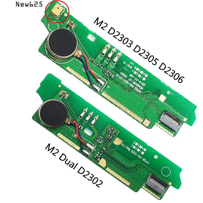 Microphone-Board Motor-Mic Vibrator D2302 Sony Xperia Original For M2 S50h/D2305/D2306/..