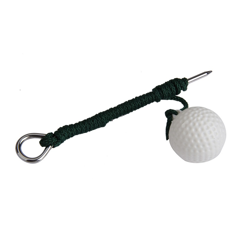 1Pc Sport Golf Plastic Practise Ball Putting Green Training Balls With Steel Rope Golf Training Aids Golf Accessories BHU2