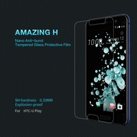 For Htc U Play Screen Protector NILLKIN Amazing H Nanometer Anti Explosion 9H Tempered Glass For
