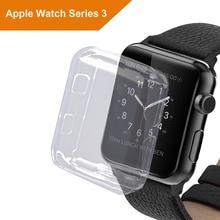 Caso para A Apple Série Relógio 3, Relógio Protetor de Tela TPU Tudo-Em Torno da Tela Tampa Da Caixa de Proteção para iwatch série 3 42 MM 38 MM