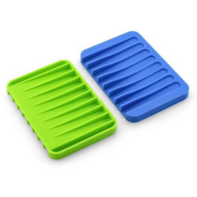 13 Colors Fashion Silicone Flexible Soap Dish Plate Bathroom Soap Holder Soap Box