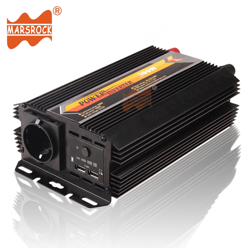 Car Home Use 300W Off Grid Modified Sine Wave Solar Power Inverter DC 12V 24V to AC 220V with Dual USB Charger Power Supply china manufacture sell 300w 12v to 115v car use inverter maili brand one year warranty