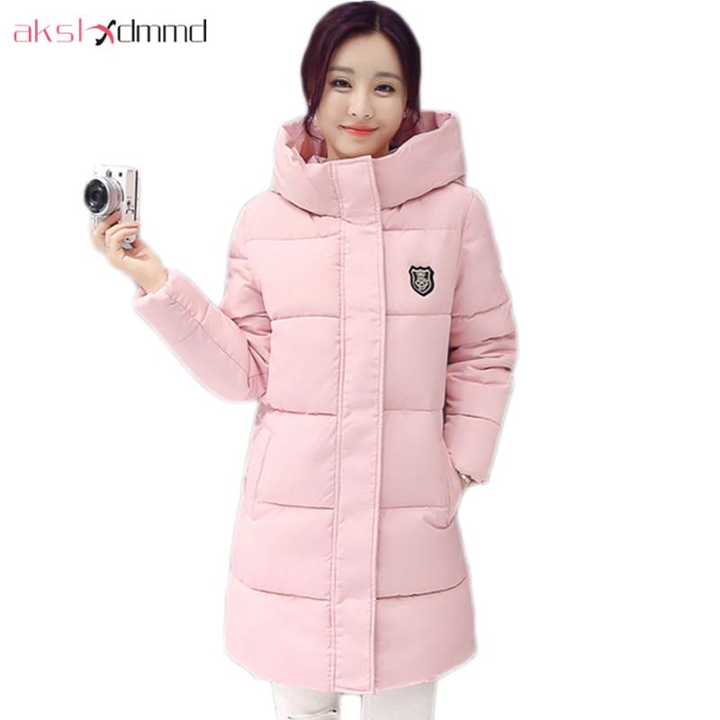 2019 New Casual Warm Long Sleeve Ladies Basic Coat Jaqueta Feminina Jacket Women Parkas Mujer Cotton Women Winter Jacket LH1159