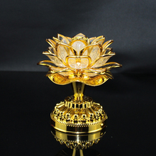 High quality LED colorful lotus lamp electric light candle and thirteen Buddha music