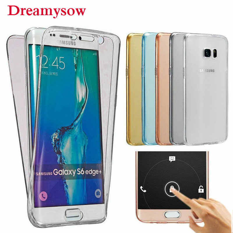 360 Full body Case For Samsung Galaxy J2 Pro A5 A6 A7 A8 2018 S9 S8 S7 S6 Edge Plus J5 J7 Grand Prime Soft Clear TPU Coque