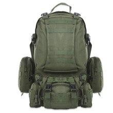 عالية الجودة 50L سعة كبيرة متعددة الوظائف العسكرية على ظهره التمويه مول الجيش حقائب الظهر الرجال حقيبة السفر