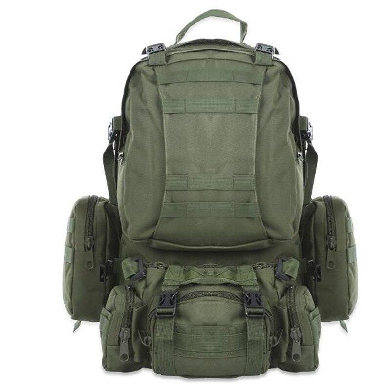 Haute Qualité 50L Grand-capacité Multifonction Sac À Dos Militaire Camouflage Armée Molle À Dos Sac À Dos Hommes Voyage Sac À Dos
