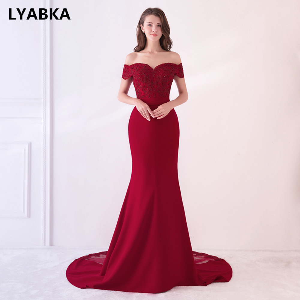 Cap Sleeve Prom Dresses Robe De Soiree Burgundy Prom Dress Real Photo Sweetheart Mermaid Prom Dresses