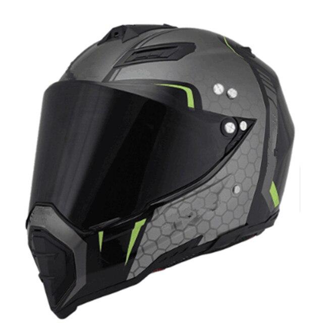 04851c99 Motorbike Motocross Helmets Men ATV MTB DH Downhill Dirt bike Off-road  Racing Helmets Full face Motorcycle Helmet Lens Visor