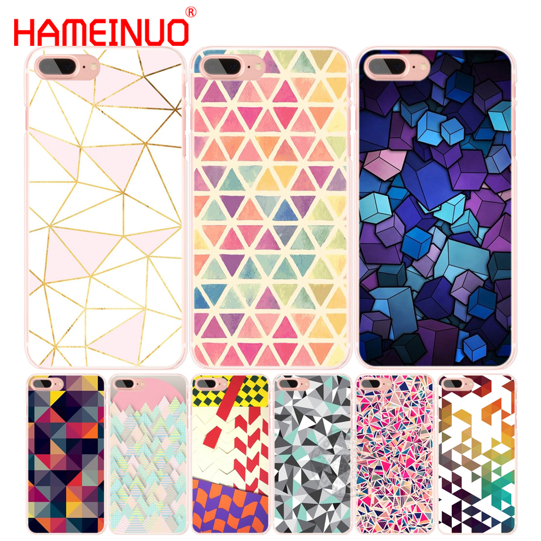 HAMEINUO Fashionable Geometric Graphic cell phone Cover case for iphone 6 4 4s 5 5s SE 5c 6s 7 8 plus X