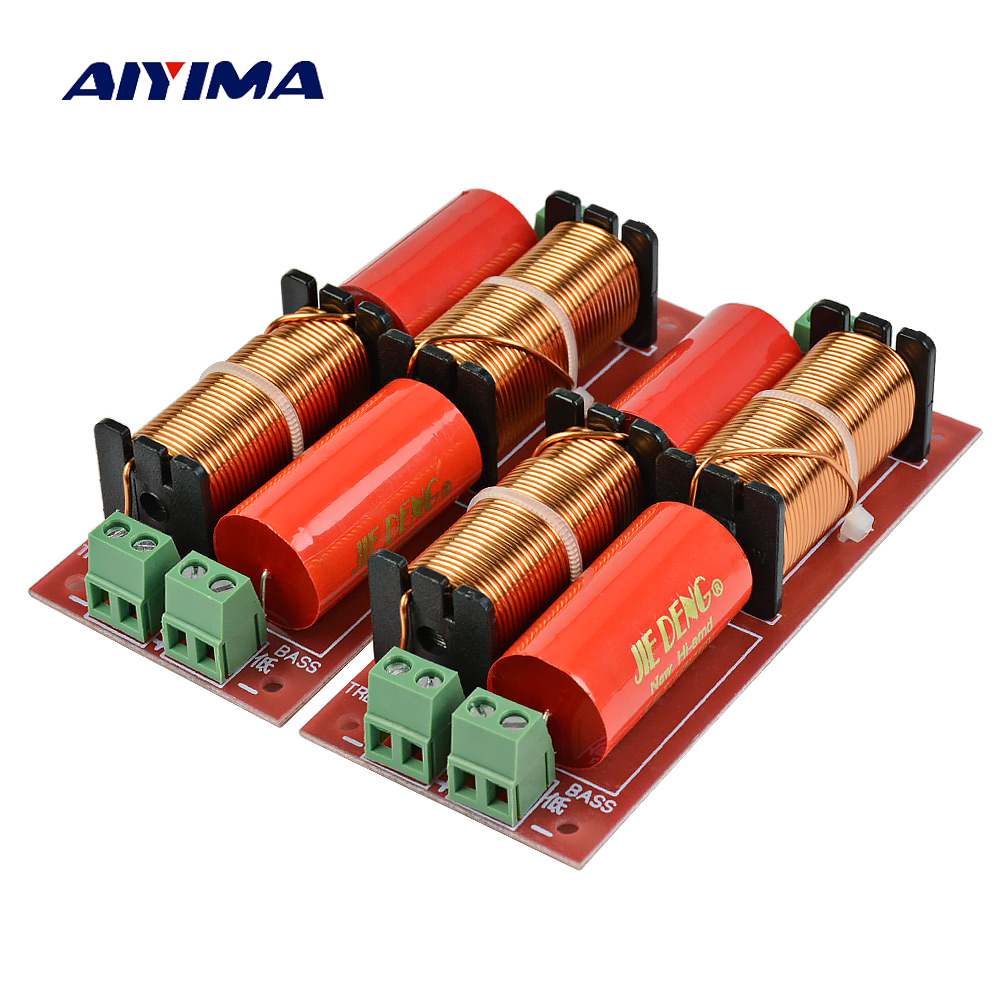 AIYIMA 2Pcs 2way Crossover Audio Board Filter <font><b>300W</b></font> Speakers Treble <font><b>SubWoofer</b></font> Frequency Divider DIY For Home Theater image