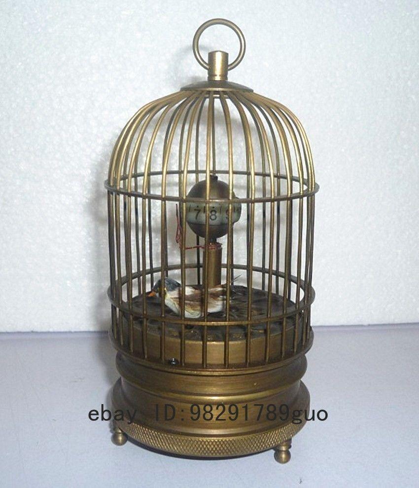 Eximious brass birdcage machine clock with bird inside Height Garden Decoration 100% real Brass BronzeEximious brass birdcage machine clock with bird inside Height Garden Decoration 100% real Brass Bronze
