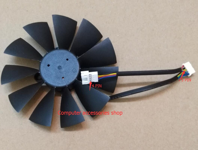 1pcs 95mm NEW Original Graphics Card Fan FOR ASUS GTX780 GTX780TI R9 280 280X 290 290x GTX970 GTX980 T129215SU DC12V 0.5A