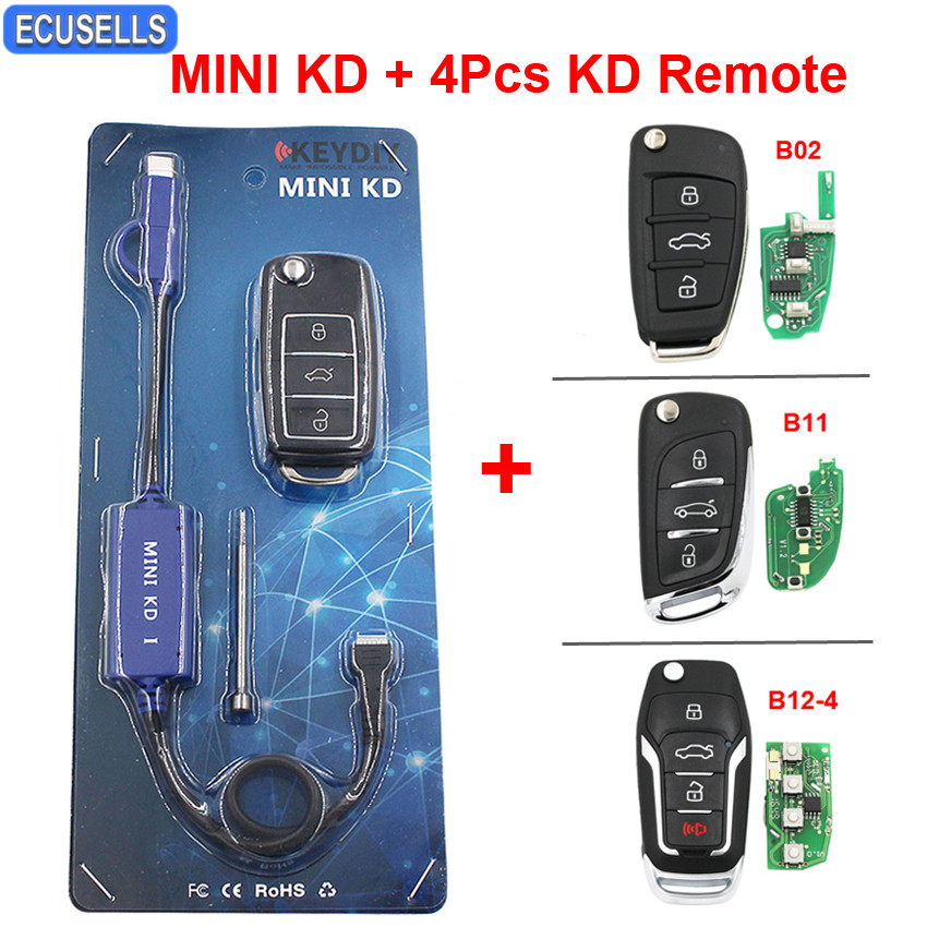 Mini KD Remote Key Generator Support Android Make More Than 1000 Auto Remotes Similar With KD900 With B01-3-LB B02 B11 B12-4