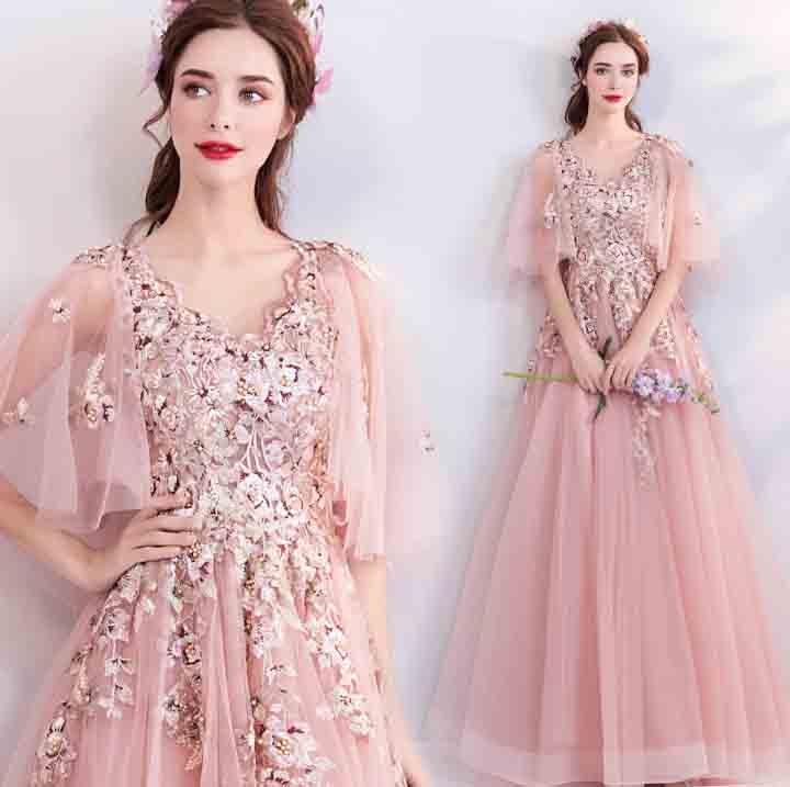 큰 크기 5xl 사용자 정의 디럭스 저녁 웨딩 신부 파티 드레스 핑크 댄스 파티 드레스 레드 카펫 생일 선물 여자 플러스 크기 6xl-에서드레스부터 여성 의류 의  그룹 1