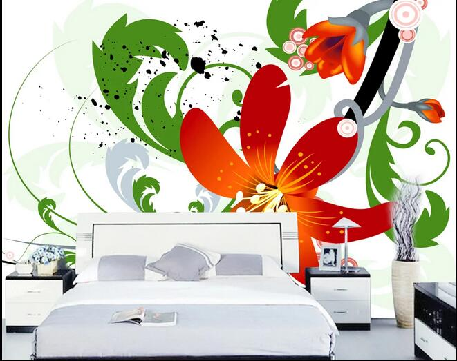 Large Painting Abstract Flower Mural For Living Room Hotel