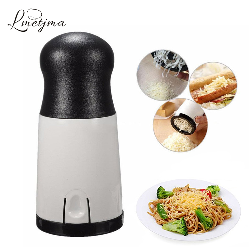 LMETJMA Stainless Steel Cheese Grater Slicer Handheld Cheese Grinder Mill Cheese Butter Cutter Slicer Baking Tools KC0528-1 image