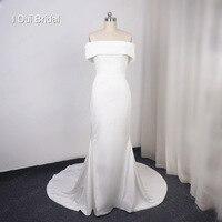 Спандекс атласный материал свадебное платье чистое свадебное высококачественное вечернее платье