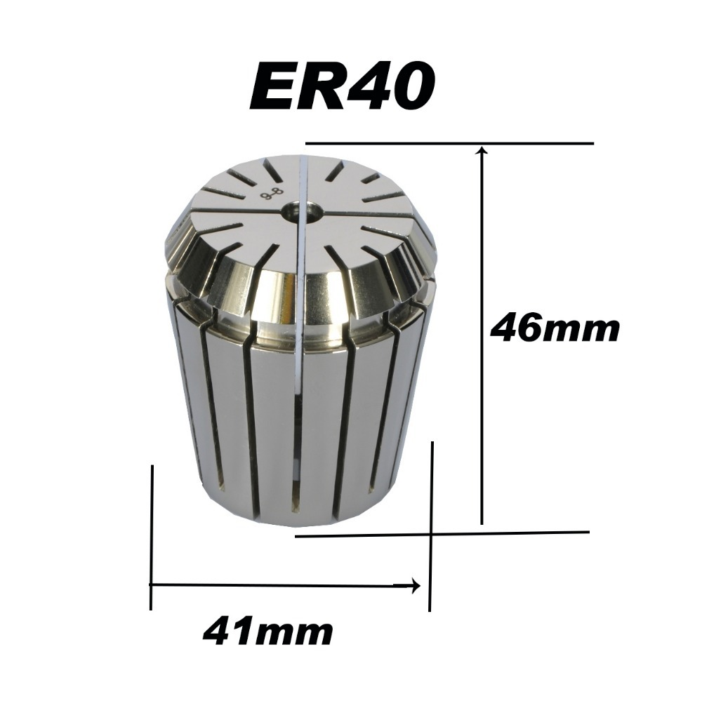 High Precision Accuracy 0.008mm er ER40 Collet Chuck for Spindle Motor Engraving/Grindin ...