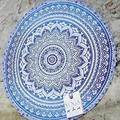 Indian Mandala Printed Round Roundie Beach Throw Tapestry Hippy Hippie Gypsy Polyester Tablecloth Beach Towel