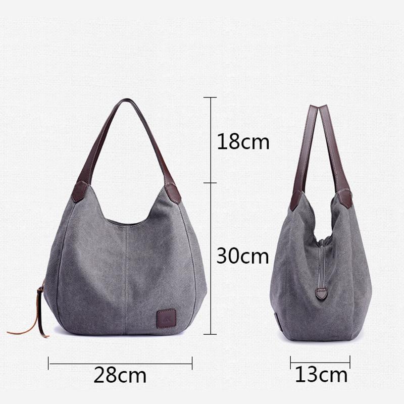 ... Canvas Handbags High Quality Female Hobos Single Shoulder Bags Vintage  Solid Multi-pocket Ladies Totes Bolsas. Previous. Next 4a4c7db37f